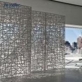 Напольный декоративный экран отрезока лазера панелей стены здания