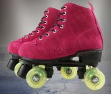 点滅の車輪の4-Wheelローラースケートの靴