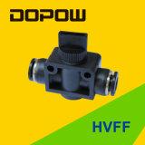 Válvula neumática de métrica Hvff mano tubo Tubo / pulg.