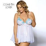 Comeonlover 섹시한 옷 색정적인 내복 여자 아기 - 크기 6XL 란제리 Sleepwear 플러스 인형 섹시한 란제리 최신 투명한