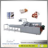 Chocolate caja de cartón automática Máquina de embalaje Línea de producción