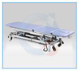 La parte superior de tres secciones ajustables de potencia mesa de tratamiento Camilla de masaje