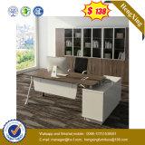 Bureau de meubles de modèle moderne de noir et de couleur de chêne (UL-MFC528)