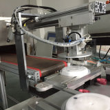 Automatischer Plastikmittagessen-Kasten-Deckel-Silk Bildschirm-Drucker
