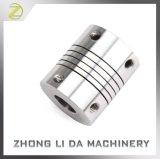 Acoplador zero de acoplamento do eixo da folga do feixe de alumínio do motor deslizante do CNC do acoplador do eixo flexível do parafuso para o servo motor do codificador