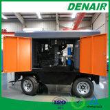 2/4 compresor de aire móvil montado alimentador del tornillo del motor diesel de las ruedas para el infante de marina