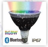 control elegante PAR38 de 20W&25W LED Bluetooth con IP67 impermeable