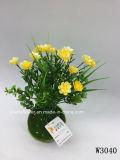 Plástico/Artificial el césped y flores de Bush (W3040)
