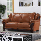 最もよい品質のホテルのロビーの家具の本革のソファー(A05)