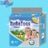 Pannolini del bambino del commercio all'ingrosso del contrassegno privato/fornitori sonnolenti a gettare pannolino del bambino