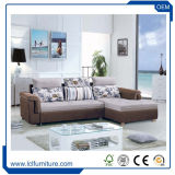 Tissu moderne coin canapé-lit avec le stockage
