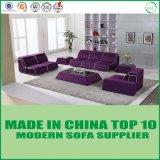 Insieme di cuoio di legno alla moda del sofà della mobilia modulare
