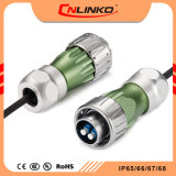Optical Equipment를 위한 금속 Cover Great Protection Fiber Circular Connector IP65/IP67 Cable Connector