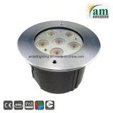 Acero inoxidable de 18W LED IP68, bajo el agua de la luz de la Piscina