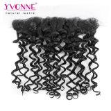 Yvonne-Qualitäts-malaysische Spitze-frontales italienisches lockiges Haar 13.5*4