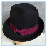 고품질 겨울 동안 다른 작풍 100% 모직 펠트 중절모 Trilby 모자