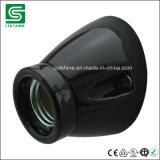 Sostenedor negro de la lámpara de la porcelana E27 para Europa