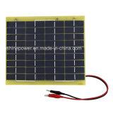 caricabatteria a resina epossidica del comitato solare 5W con il diodo delle clip di batteria