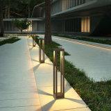 Алюминиевый квадратный светильник лужайки, света сада СИД самомоднейшие просто