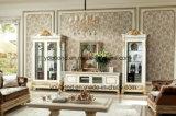 0062-1 이탈리아 단단한 나무 호화스러운 고대 백색 거실 내각