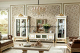 0062-1 luxo madeira maciça italiana antique branco Gabinete Sala de Estar