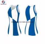 Superiori poco costosi progettano l'attrezzatura per il cliente Sleeveless del vestito da Cheerleading di forma fisica per i capretti