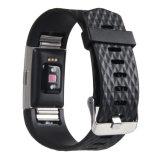 Venda de la correa de reloj del caucho de silicón para la carga 2 de Fitbit