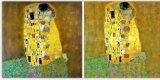Воспроизведение Kiss от Klimt ручной работы картины маслом для перепродажи