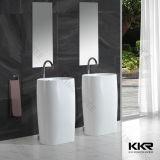Оптовая торговля роскошные ванные комнаты из белого камня отдельностоящие пьедестал бассейнов
