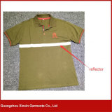 주문을 받아서 만들어진 남자의 사려깊은 안전 녹색 폴로 셔츠 (P31)