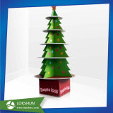 Árbol de Navidad cartón Expositor de suelo para Beanie Kids Promoción, juguetes de cartón fabricante de China de estante de la pantalla