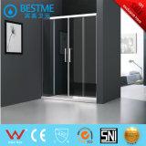 Dos fijaron el sitio de ducha de dos puertas deslizantes en el precio de fábrica (BL-B0026-P)