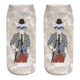 Sokken van de Patronen van de Hond van het Beeldverhaal van de Sokken van vrouwen de Onzichtbare 3D Afgedrukte Dierlijke