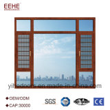 Звукоизоляционное и водоустойчивое алюминиевое окно Casement для шторма