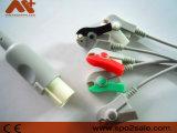 Cable de una sola pieza de GE-Hellige ECG con los Leadwires