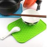 Mat van de Pannelap van het Keukengerei van het silicone de Hittebestendige Antislip Hete