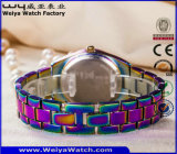 Orologio casuale su ordinazione di modo delle signore dell'acciaio inossidabile (WY-P17003B)