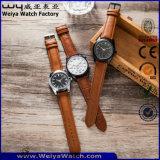 Reloj clásico de encargo del cuarzo de la correa de cuero de las señoras (WY-P17014A)