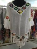 Reizvolle hohle Häkelarbeit-Bikini-Bluse, Spitze-Oberseite