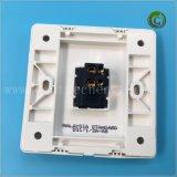 Un gang du panneau de commande de couleur blanche en plastique du contacteur de l'interrupteur interrupteur carré interrupteur mural de l'interrupteur électrique