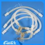 Circuit de respiration d'anesthésie réutilisable de silicones