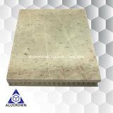 Comitati di alluminio del favo di colore dell'impiallacciatura bianca del marmo per il rivestimento della parete