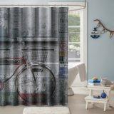 Repelente al agua / Sin moho cortina de ducha de poliéster impreso personalizado