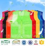 ANSI Coletes de segurança reflexivo de tecido de malha na cor Neon