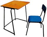 Mesa da sala de aula da madeira compensada relativa à promoção da alta qualidade e mobília de escola de madeira baratas da cadeira