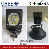 10W indicatore luminoso fuori strada del lavoro del punto LED con contabilità elettromagnetica, RoHS (GT1023C-10W)