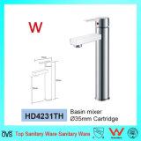 Faucet de bronze do punho da água fria e quente para o banheiro com Watermark e Wels