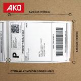 De Ako de la marca de fábrica del OEM de la impresión escrituras de la etiqueta del papel termal 2 suavemente por escrituras de la etiqueta de envío de la hoja