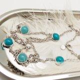 Echte Verse Rhodium van het Witgoud plateerde Lange Halsband voor Vrouwen