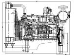 Turbochargingのディーゼル機関、4シリンダー、エンジン、ディーゼル発電機